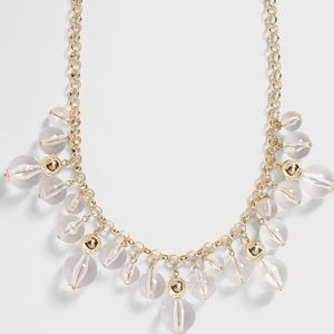 Banana Republic Lucite Statement Necklace NWT
